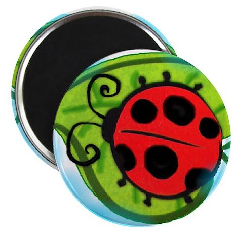 Ladybug on a leaf Magnet
