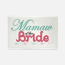 MaMaw of the Bride Rectangle Magnet