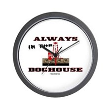 In The Doghouse Wall Clock, Oil Field Gift
