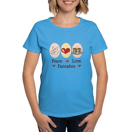 Peace Love Pancakes Women's Dark T-Shirt