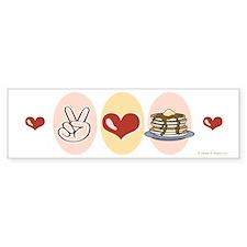Peace Love Pancakes Bumper Bumper Sticker