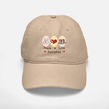 Peace Love Pancakes Baseball Baseball Cap