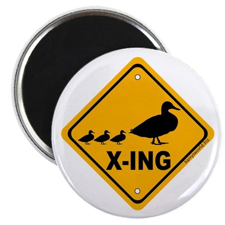 """Duck X-ing 2.25"""" Magnet (10 pack)"""