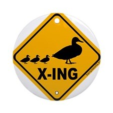 Duck X-ing Ornament (Round)