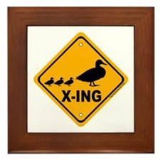 Duck X-ing Framed Tile