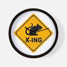 Rat X-ing Wall Clock