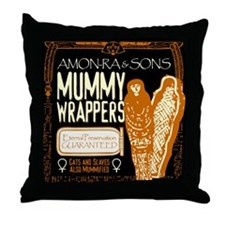 Mummy Wrappers Throw Pillow