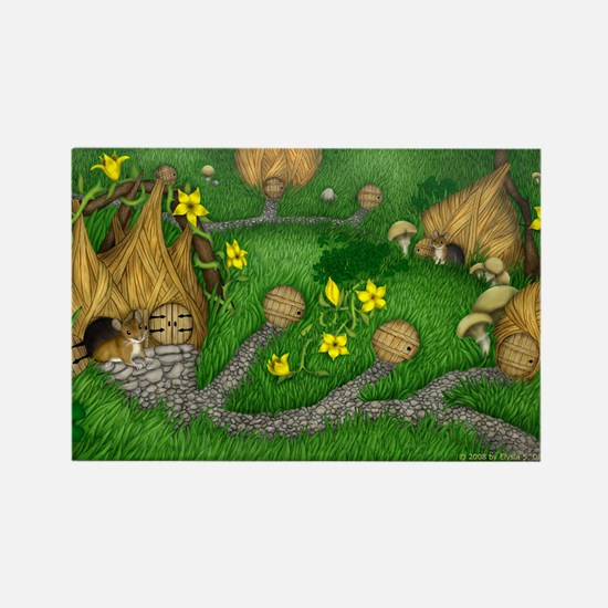 Village of the Field Mice Rectangle Magnet