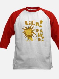 Lion Rawr Kids Baseball Jersey