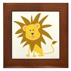 Lion Rawr Framed Tile