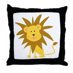 Lion Rawr Throw Pillow
