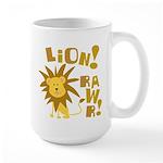 Lion Rawr Large Mug