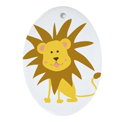 Lion Rawr Oval Ornament