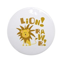 Lion Rawr Ornament (Round)