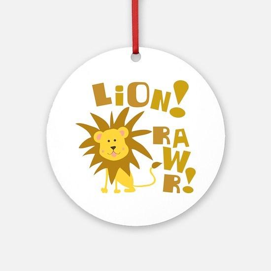 Lion Rawr Ornament (Round)