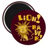 "Lion Rawr 2.25"" Magnet (10 pack)"