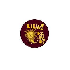Lion Rawr Mini Button
