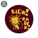 "Lion Rawr 3.5"" Button (10 pack)"