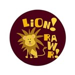 "Lion Rawr 3.5"" Button (100 pack)"