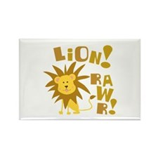 Lion Rawr Rectangle Magnet