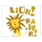 Lion Rawr Small Poster