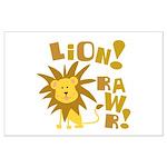 Lion Rawr Large Poster