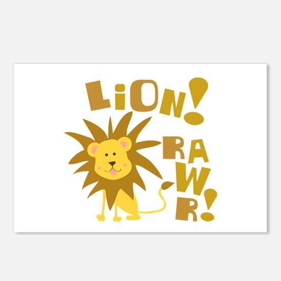 Lion Rawr Postcards (Package of 8)