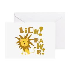 Lion Rawr Greeting Card