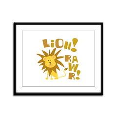 Lion Rawr Framed Panel Print
