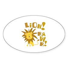 Lion Rawr Oval Decal