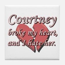 Courtney broke my heart and I hate her Tile Coaste