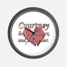 Courtney broke my heart and I hate her Wall Clock