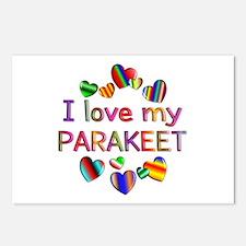 Parakeet Postcards (Package of 8)