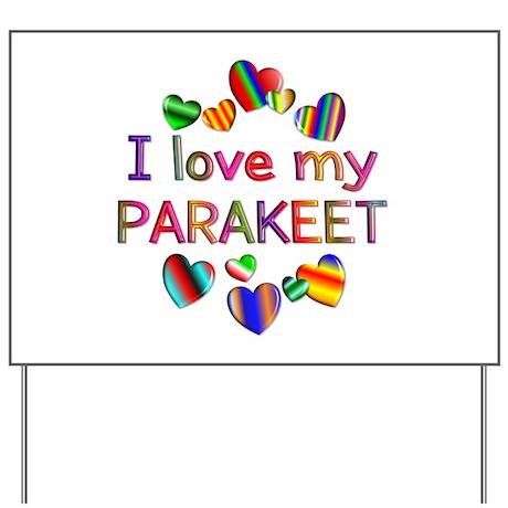 Parakeet Yard Sign