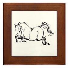 Hunter Jumper Horse Framed Tile