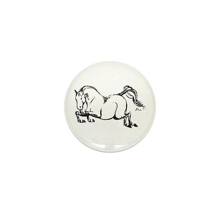 Hunter Jumper Horse Mini Button (10 pack)