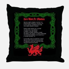 Welsh National Anthem Throw Pillow