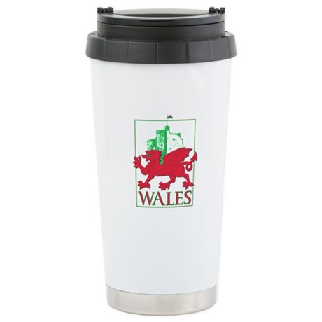 Dragon and Castle Stainless Steel Travel Mug