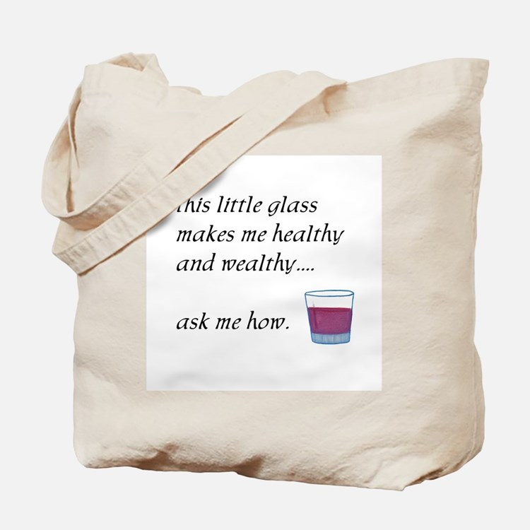 Glass Healthy Wealthy Tote Bag