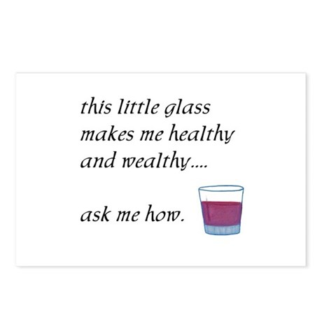 Glass Healthy Wealthy Postcards (Package of 8)