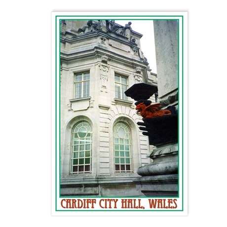 Cardiff City Hall Postcards (Package of 8)
