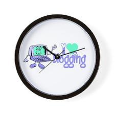 Funny I love blogging Wall Clock