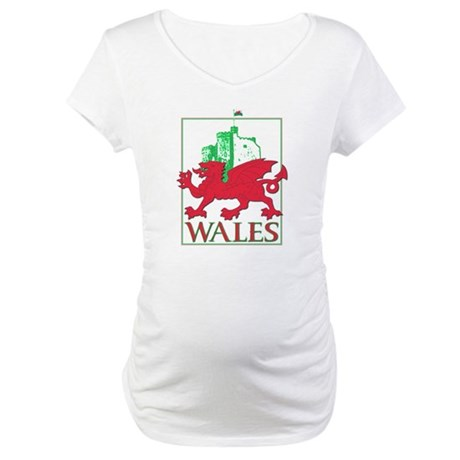 Dragon and Castle Maternity T-Shirt