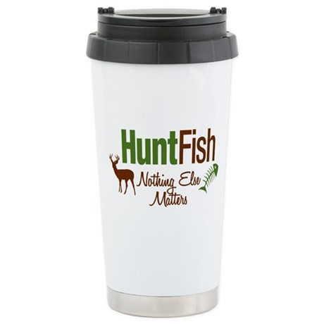 Hunt Fish Nothing Else Matters Stainless Steel Tra