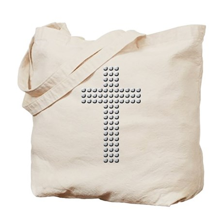 Jeweled Cross Tote Bag