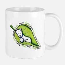 Love GREEN Westie Mug
