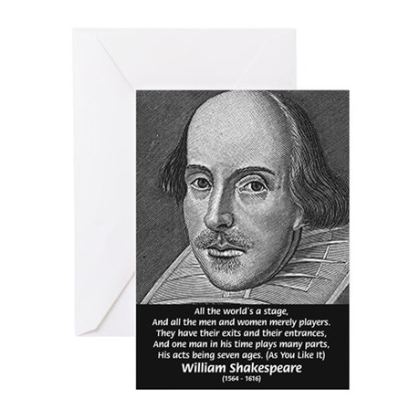 Playwright William Shakespeare Greeting Cards (Pac