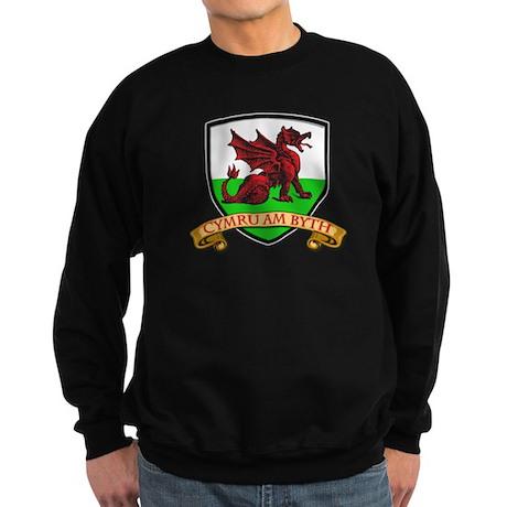 Red Dragon Shield Sweatshirt (dark)