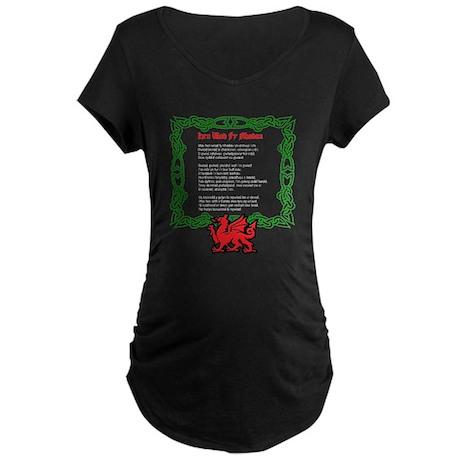 Welsh National Anthem Maternity Dark T-Shirt