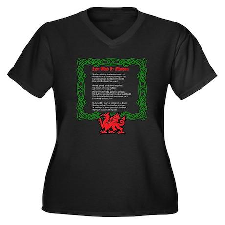 Welsh National Anthem Women's Plus Size V-Neck Dar